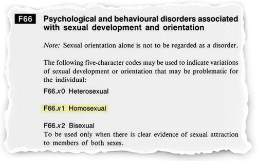 гомосексуализм МКБ
